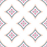 Mandala Pattern Blue Background complessa Immagine Stock
