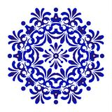Blue floral mandala pattern royalty free illustration