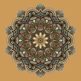 Mandala pattern color stock illustration