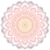 Mandala pattern colored background. Vector illustration. Meditation element for India yoga. Ornament for decorating a. Greeting royalty free illustration