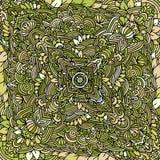 Mandala pattern colored green background. Vector illustration. Mandala pattern colored green background. Vector illustration Stock Photo