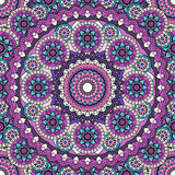 Mandala pattern colored seamless background.   illustratio. Mandala pattern colored seamless background. Vector illustration Royalty Free Stock Images