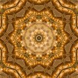 Mandala pattern. A colorful geometric mandala pattern with Buddha faces royalty free stock photo