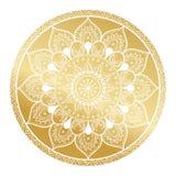 Mandala Pattern Dekorativ prydnad för arabisk tappning Mandalaguldbakgrund Abstrakt stam- etnisk textur Bröllop guld Royaltyfria Foton