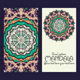 Mandala pattern design template. May be used for Royalty Free Stock Photography