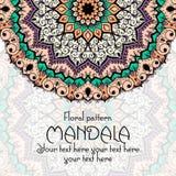 Mandala pattern design template. Vintage ethnic vector illustration