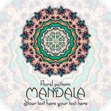 Mandala pattern design template. Vintage ethnic stock illustration