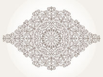 Mandala pattern element.Swirls,revival,ethnic background. Mandala pattern and background.Vintage decorative ornament and background. East,Islam,Arabic,Indian royalty free illustration