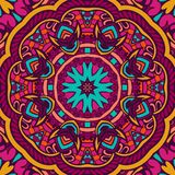 Mandala pattern for festival decor. Colorful mandala pattern for festival decor, paper wrap. Kaleidoscopic design in floral funky doodle style. best for holiday Royalty Free Stock Images