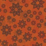 Mandala pattern or floral elements randomly organised decorative ornament. Seamless pattern background tile in Arabian Royalty Free Stock Photos