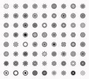 Mandala Pattern floral Forma inusual de la flor Fotografía de archivo libre de regalías