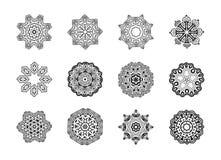 Mandala Pattern floral Forma inusual de la flor Imagenes de archivo