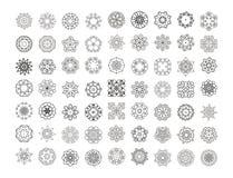 Mandala Pattern floral Forma inusual de la flor Imagen de archivo libre de regalías