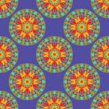 Mandala Pattern florale sans couture Images stock