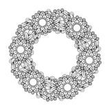Mandala Pattern floreale illustrazione di stock