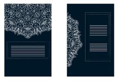 Mandala pattern flyer and ornamental banner design stock illustration