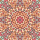 Mandala pattern.Hand drawn background. Abstract festive colorful mandala vector ethnic boho tribal pattern Stock Photos