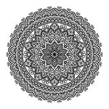 Mandala pattern large black and white Royalty Free Stock Photos