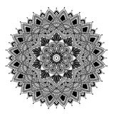 Mandala pattern large black and white Stock Photography