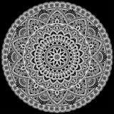 Mandala pattern large white Royalty Free Stock Photos
