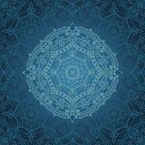 Mandala Pattern Oriënteer etnische achtergrond royalty-vrije illustratie