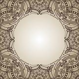 Mandala Pattern Origine ethnique de l'Orient henné Images libres de droits