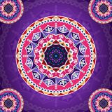 Mandala pattern on purple fancy background vector illustration