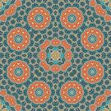 Mandala Pattern Seamless Background para saludar Imagenes de archivo