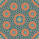 Mandala Pattern Seamless Background pour la salutation Images stock
