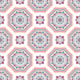 Mandala Pattern Tile Background complexe Images stock