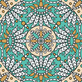 Mandala pattern. Vector seamless orient mandala pattern Royalty Free Stock Photography