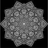 Mandala pattern white. Good mood Royalty Free Stock Photography