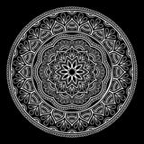 Mandala pattern white Stock Images