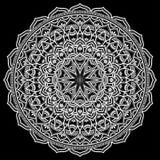 Mandala pattern white Stock Image