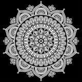 Mandala pattern white Royalty Free Stock Images