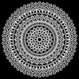 Mandala pattern white Stock Photos