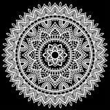 Mandala pattern white Royalty Free Stock Image