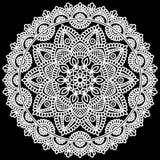 Mandala pattern white Stock Photo