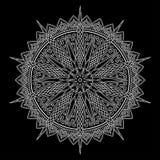 Mandala pattern white Stock Photography