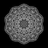 Mandala pattern white Royalty Free Stock Photo