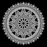 Mandala pattern white Royalty Free Stock Photography