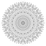 Mandala per la pagina del libro da colorare Orname rotondo decorativo dell'estratto illustrazione vettoriale