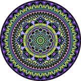 Mandala Pies okrąg royalty ilustracja