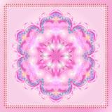 Mandala Pink color. Decorative ornament, Holiday background for wedding day. Abstract background. Digital illustration stock illustration