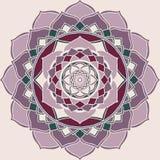 Mandala Pink y ornamento oriental púrpura stock de ilustración