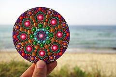 Mandala pintada mão Imagem de Stock