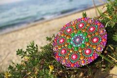 Mandala pintada mão Imagens de Stock