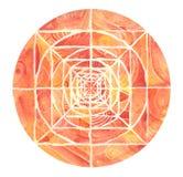 Mandala pintada roja Imágenes de archivo libres de regalías