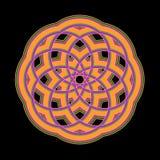 mandala pomarańcze Obraz Royalty Free