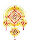 Mandala popular da talismã nas aquarelas ilustração do vetor